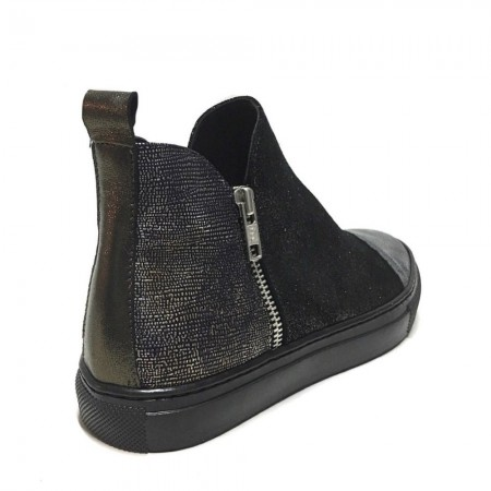 SNEAKERS STIVALETTO PATCHWORK CON ZIP