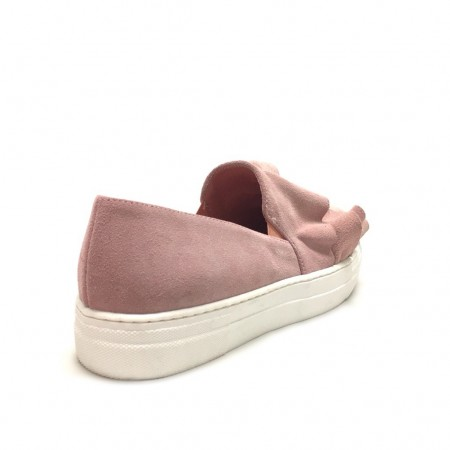 Slip on con rouches rosa cipria