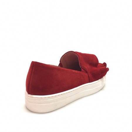Slip on con rouches rosse