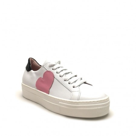 Sneakers cuore rosa