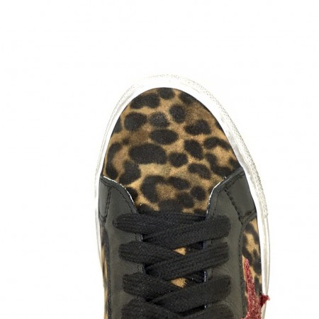 Sneakers maculate stella glitter rosso