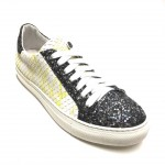 Sneakers pelle squamata lime