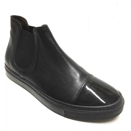 SNEAKERS SLIPON A STIVALETTO VERNICE NERE