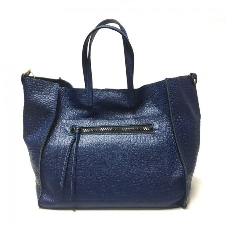 Borsa shopping morbida blu